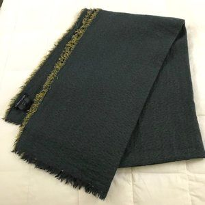 Eileen Fisher Fringed Cotton & Wool Woven Scarf